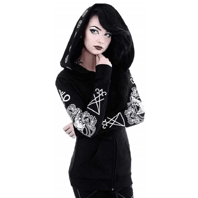 Gothic Witchcraft Punk Hoodie