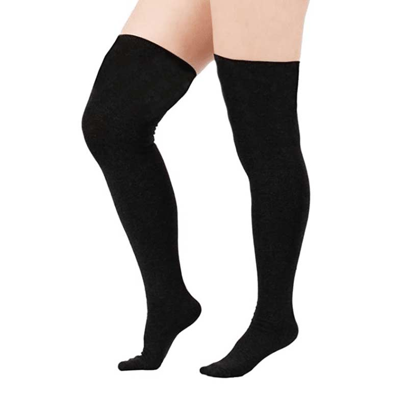 Plus Size Thigh High Stockings