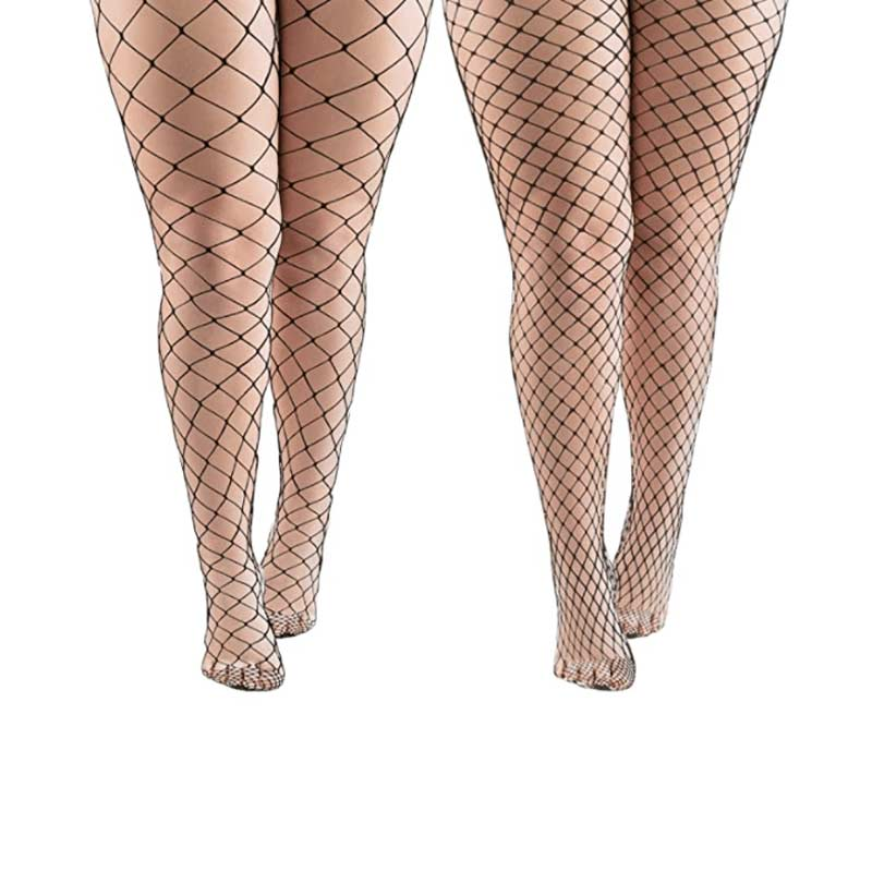 Sexy Plus Size Black Fishnets Tights