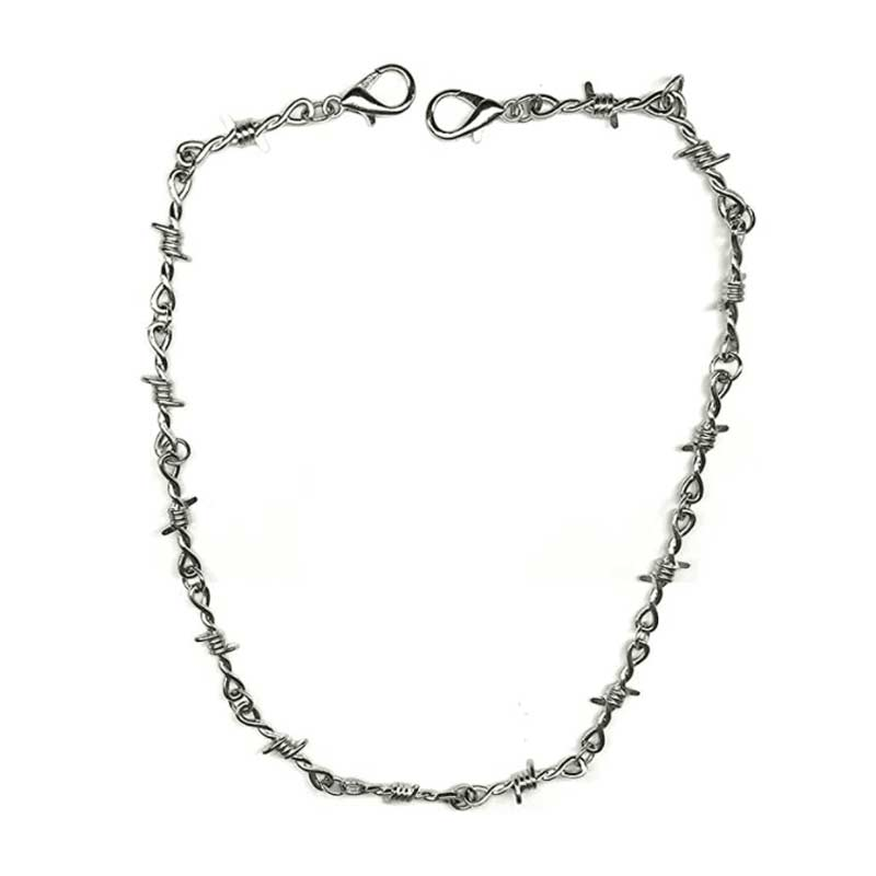Barbed Wire Punk Necklace