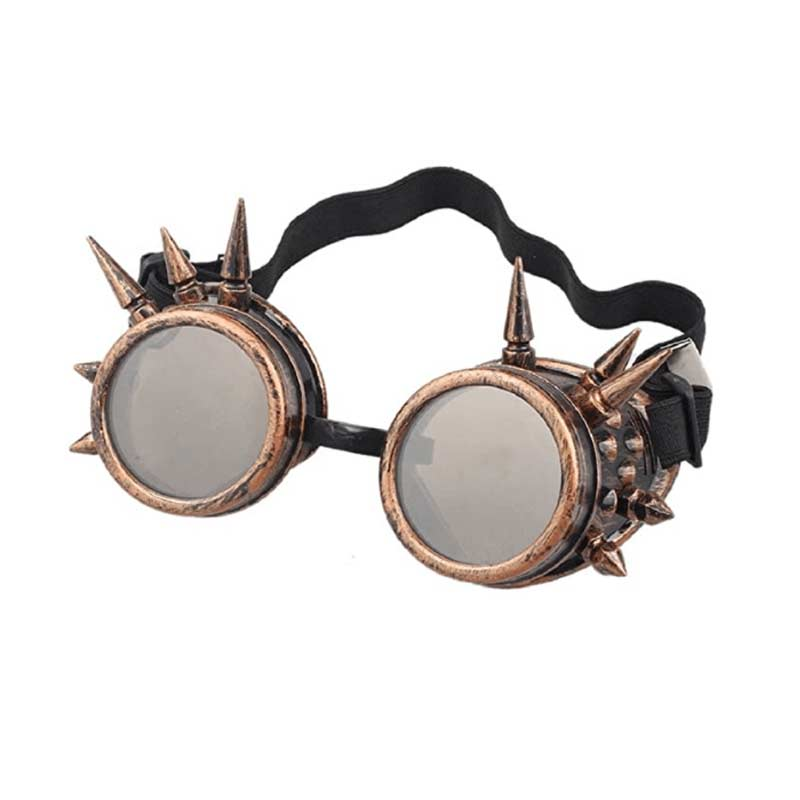 Spiked Retro Vintage Victorian Steampunk Goggles