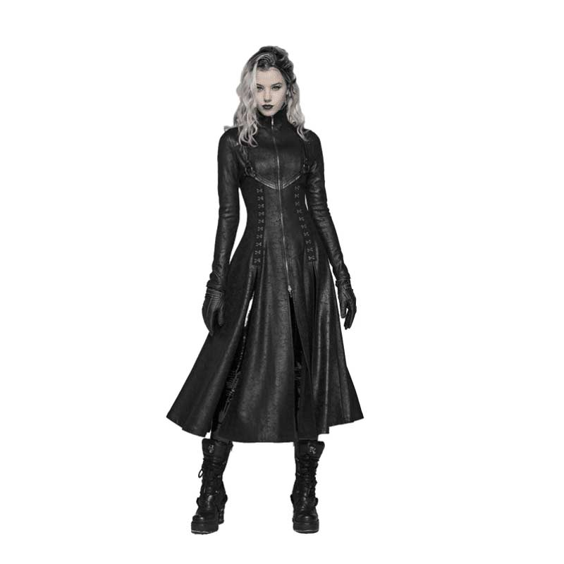 Punk Rave Gothic Vintage Steampunk Trench Coat