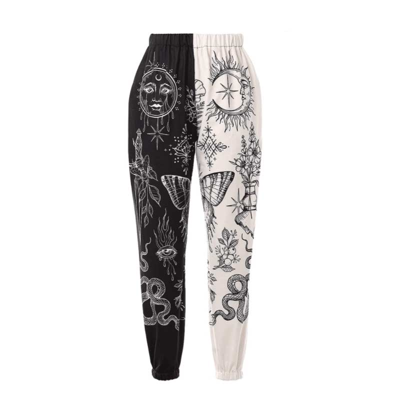 Goth Baggy Casual Trousers