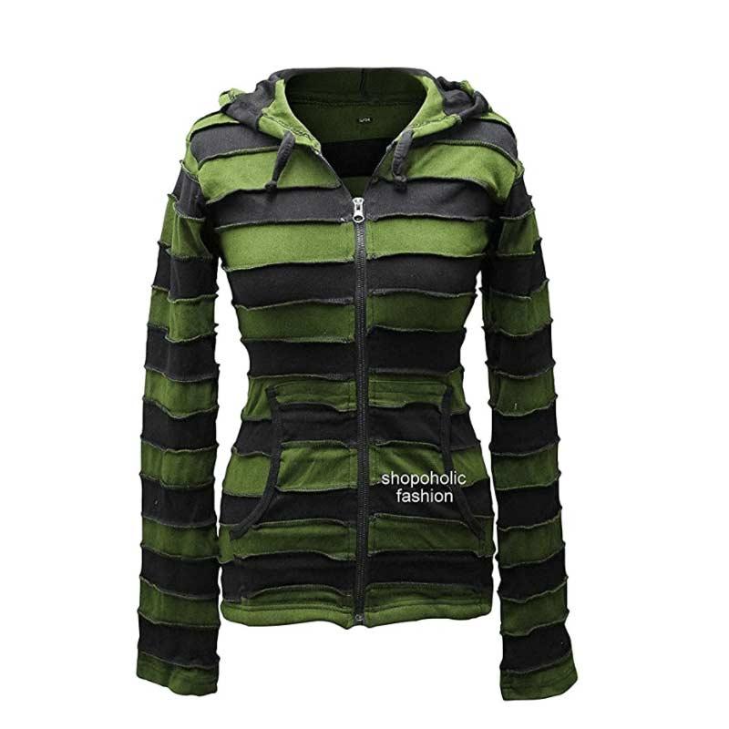 Killer Outstitched Stripy Rib Hoodie