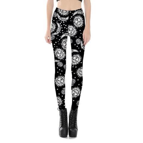 girls universe pattern legging
