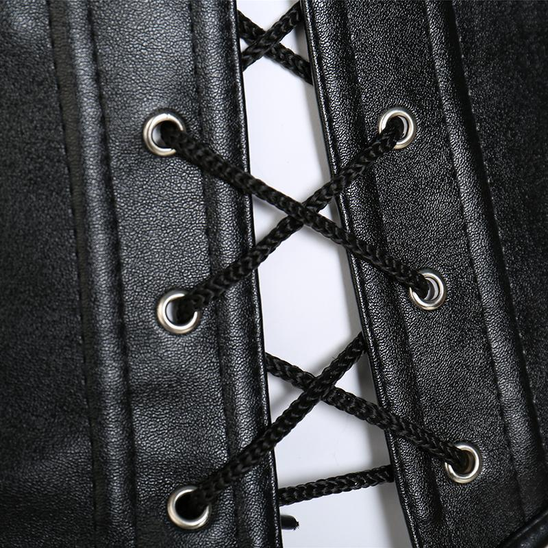 Steampunk Steel-Boned Lace-Up Overbust Corset - The Black Ravens