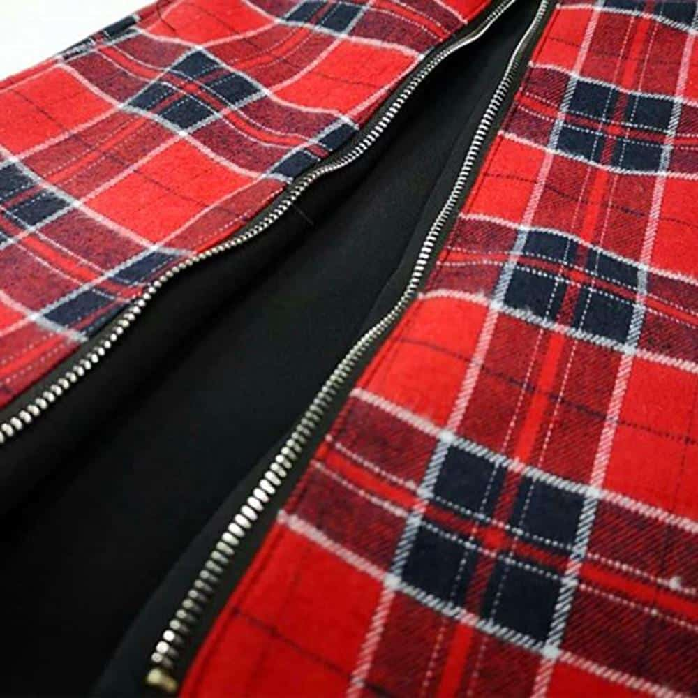 A-Line Plaid Ladies' Punk Suspender Skirt - The Black Ravens