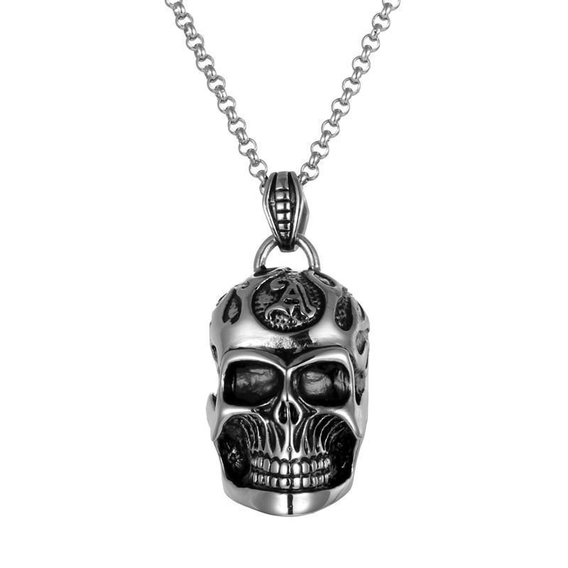 Awesome Skulls Pendant For Guys - The Black Ravens