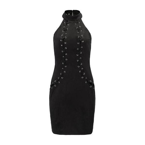 Beautiful Gothic Bandage Slim Dress - The Black Ravens