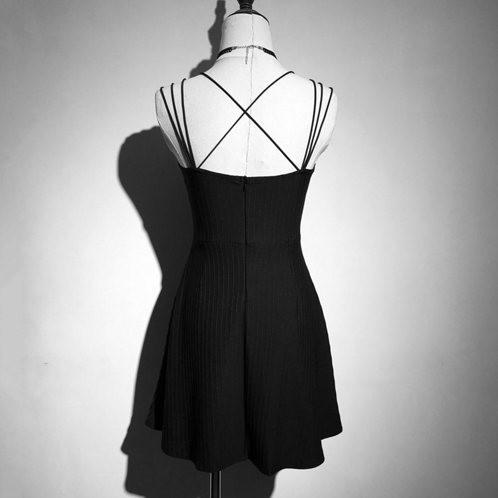 Beautiful Sexy Strap Gothic Dress - The Black Ravens