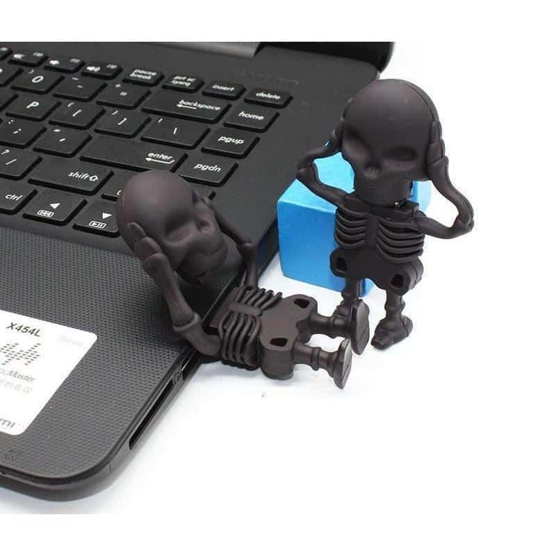 Black Funny Punk Skull USB Stick - The Black Ravens