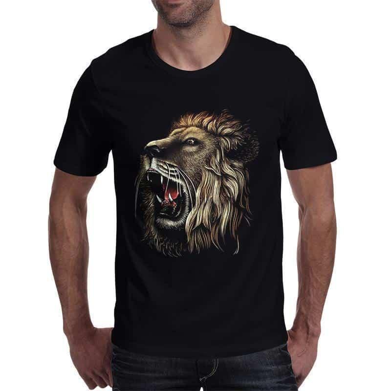 Black Lion Dark Guys Tops - The Black Ravens
