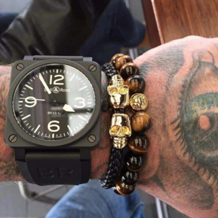 Black Unisex Genuine Leather Luxury Skulls Bracelets - The Black Ravens