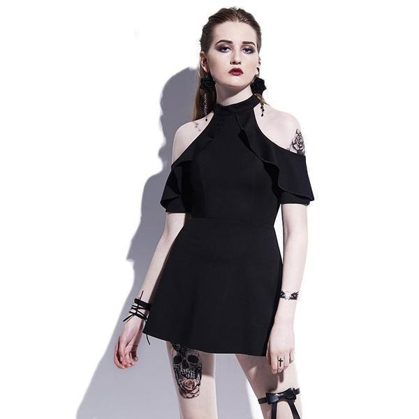 Butterfly Sleeves Ladies' Gothic Dress - The Black Ravens