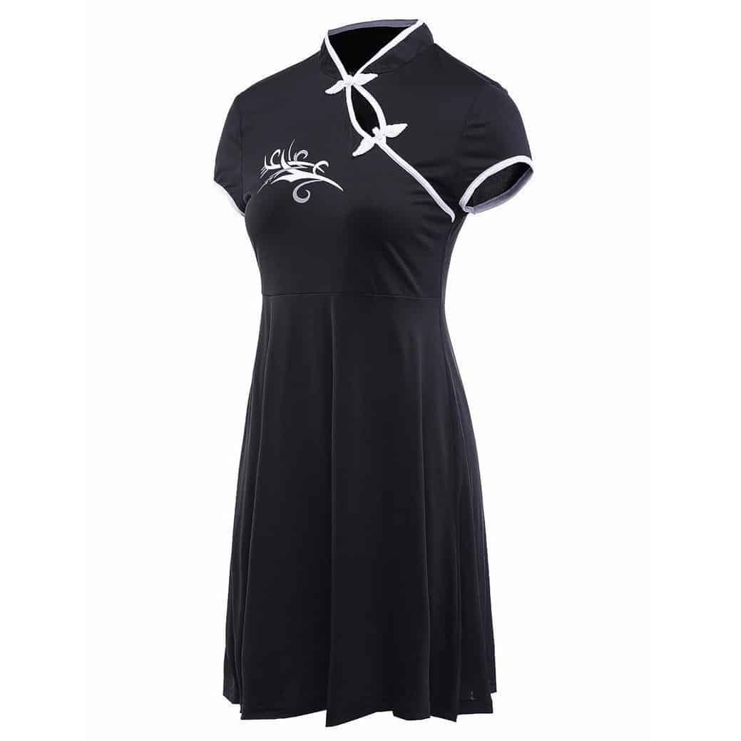 Chinese Style Beautiful Black Party Dress - The Black Ravens