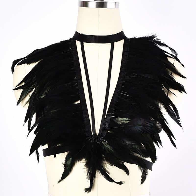 Choker Women's Breast Bondage - The Black Ravens