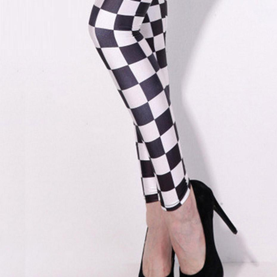 Classic Chequered Chess Board Leggings - The Black Ravens
