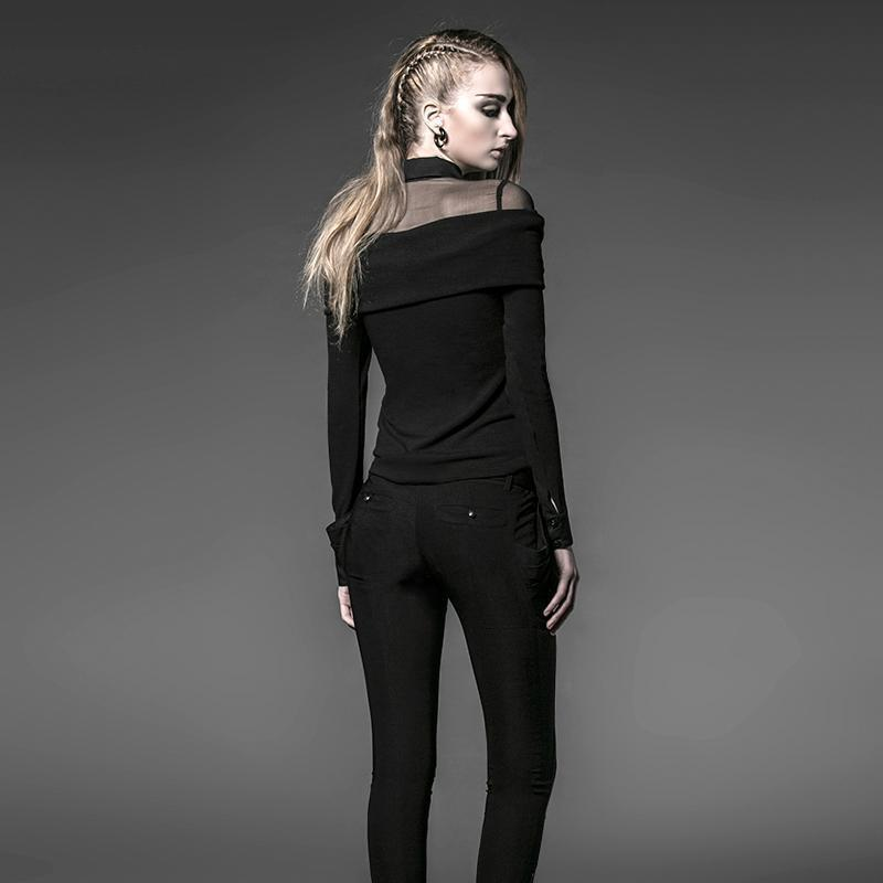 Classic Off-Shoulder Lady's Gothic Top - The Black Ravens