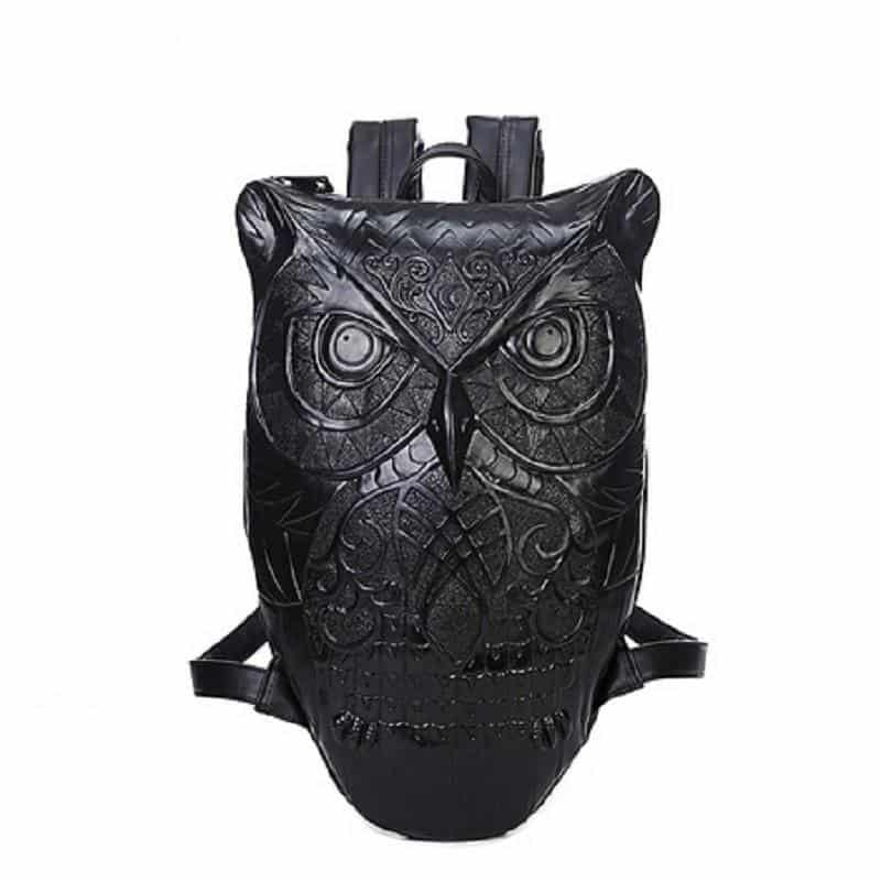 Cool Gothic Owls Rucksack For Ladies - The Black Ravens