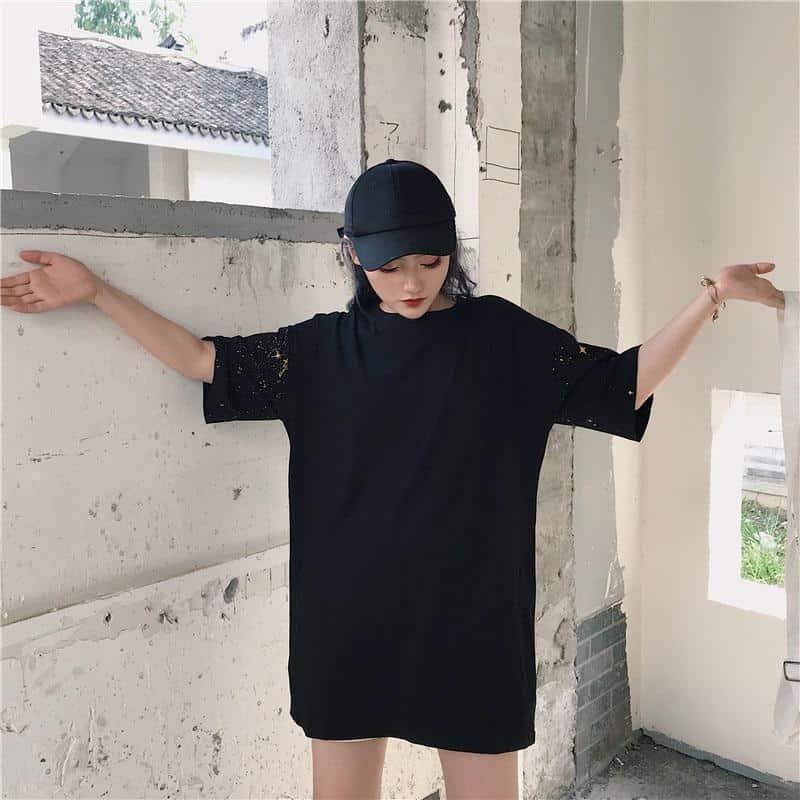 Cool Starry Night Women's Loose Shirt - The Black Ravens