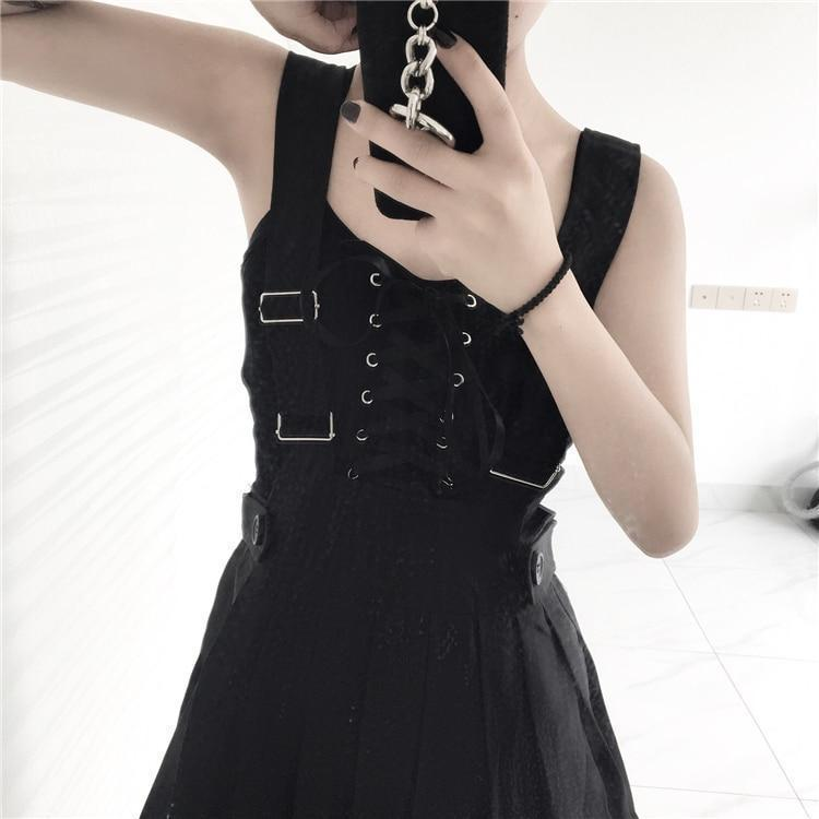 Cute and Preppy Punk Crop Top - The Black Ravens
