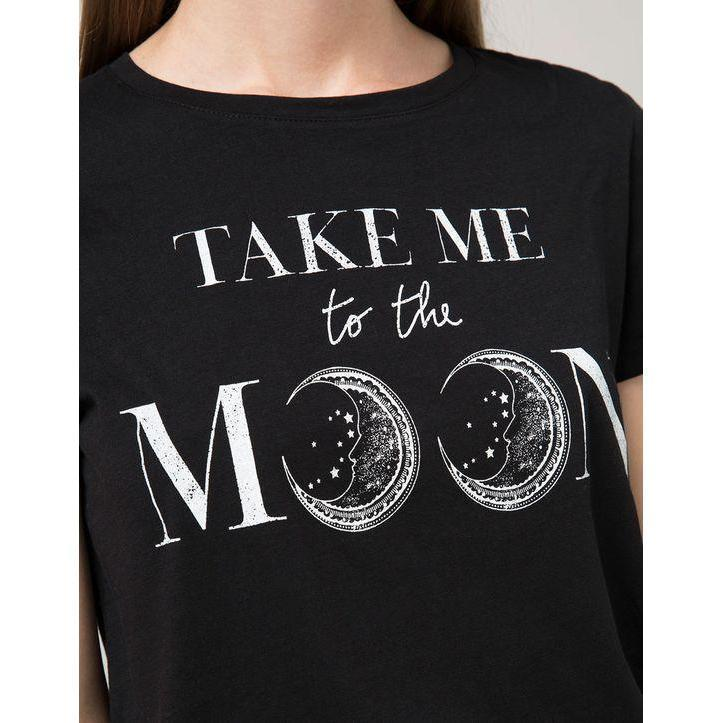 Dark Punk Take Me To The Moon Ladies Shirt - The Black Ravens