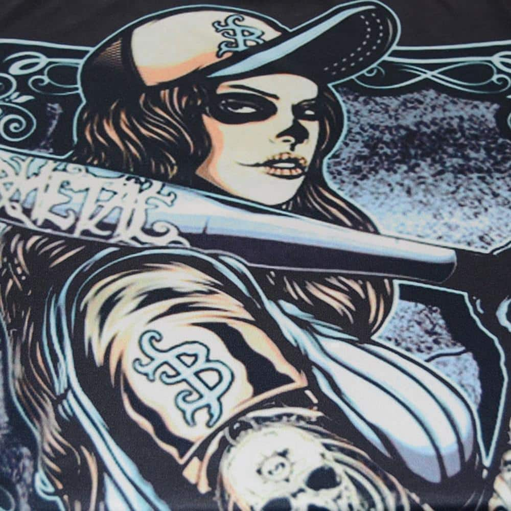 Dark Rockstar Tattoo Girl T-Shirt - The Black Ravens