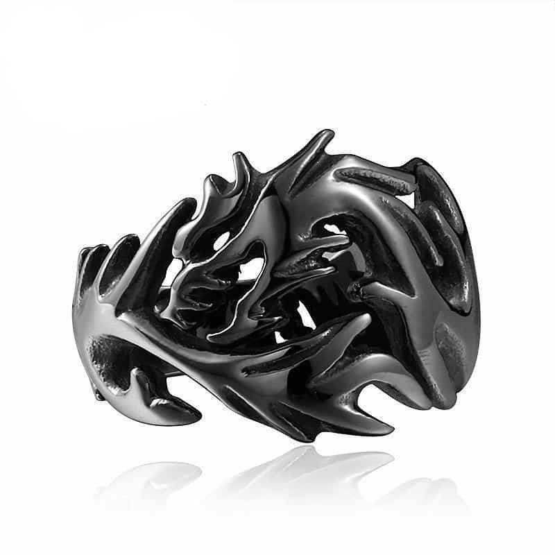 Dragon Eye and Claw Engagement Ring For Men - The Black Ravens
