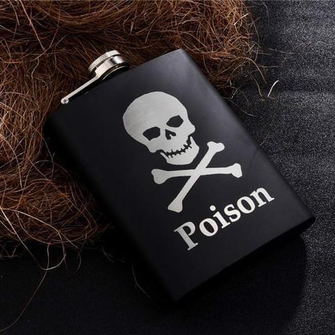 Gentleman's Poison Engraved Drink Flasks - The Black Ravens
