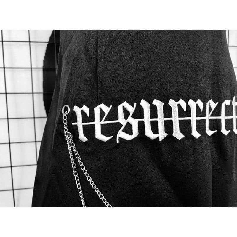 Gothic Resurrection Asymmetrical Skirt - The Black Ravens
