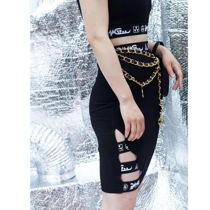 Gothic Sexy Tight-Fitting Skirt - The Black Ravens