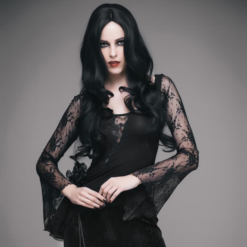 Gothic Women Lace Top - The Black Ravens