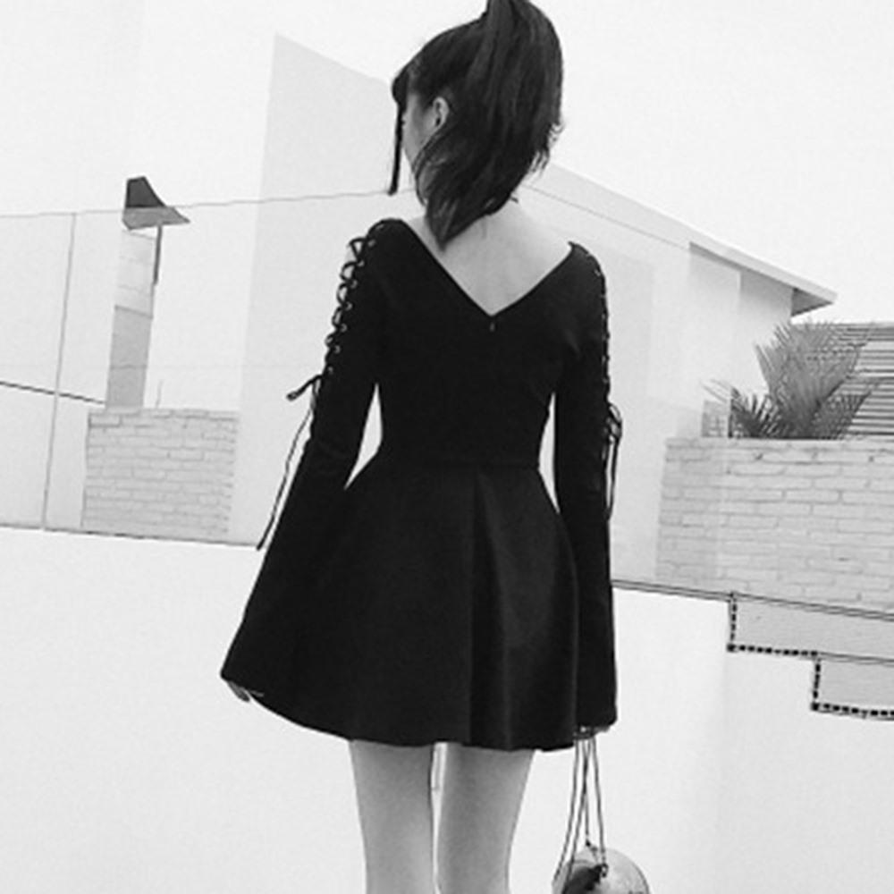 Hollow Chest Girls' Bandage Mini Dress - The Black Ravens