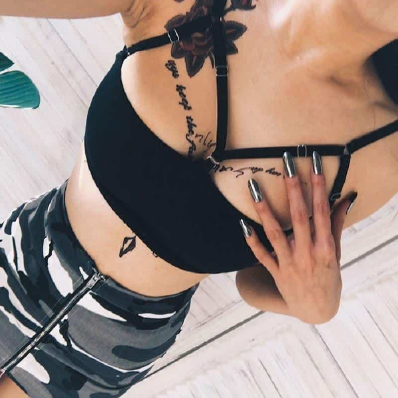 Hollow Out Gothic Bra Lingerie - The Black Ravens