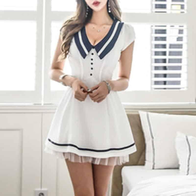 Hot and Sexy Women's Sailor Mini Dress - The Black Ravens