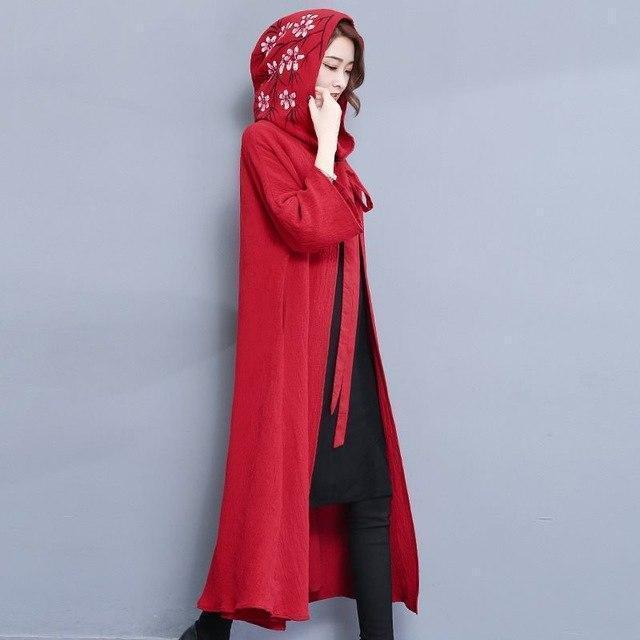 Ladies' Flashy Vintage Style Red Cape - The Black Ravens