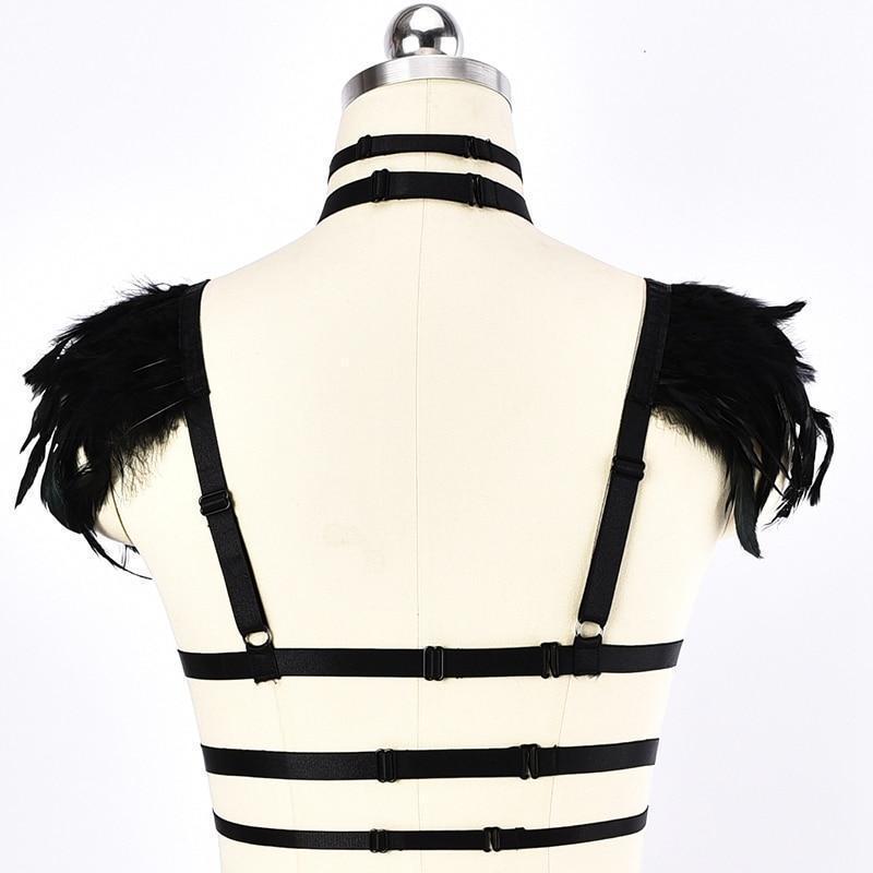 Ladies' Punk Lingerie Harness Cage - The Black Ravens
