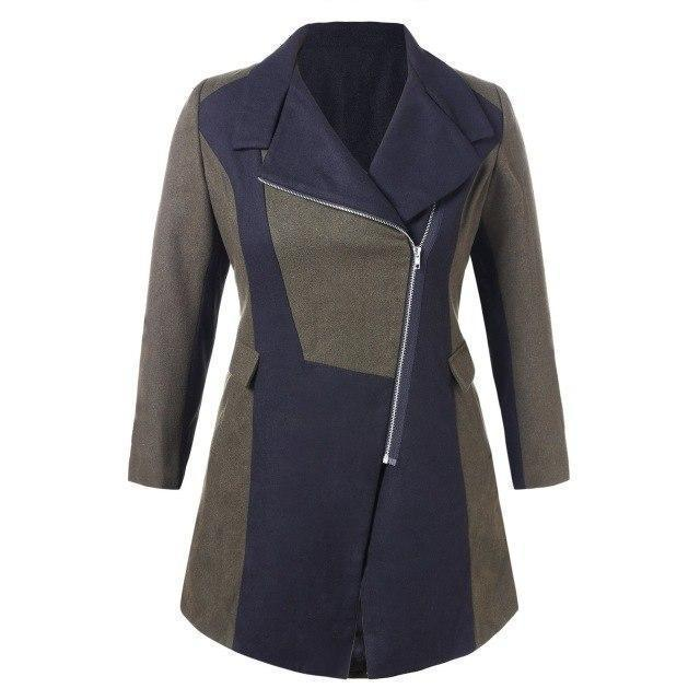 Large Size Women's Sexy Trench Coat - The Black Ravens