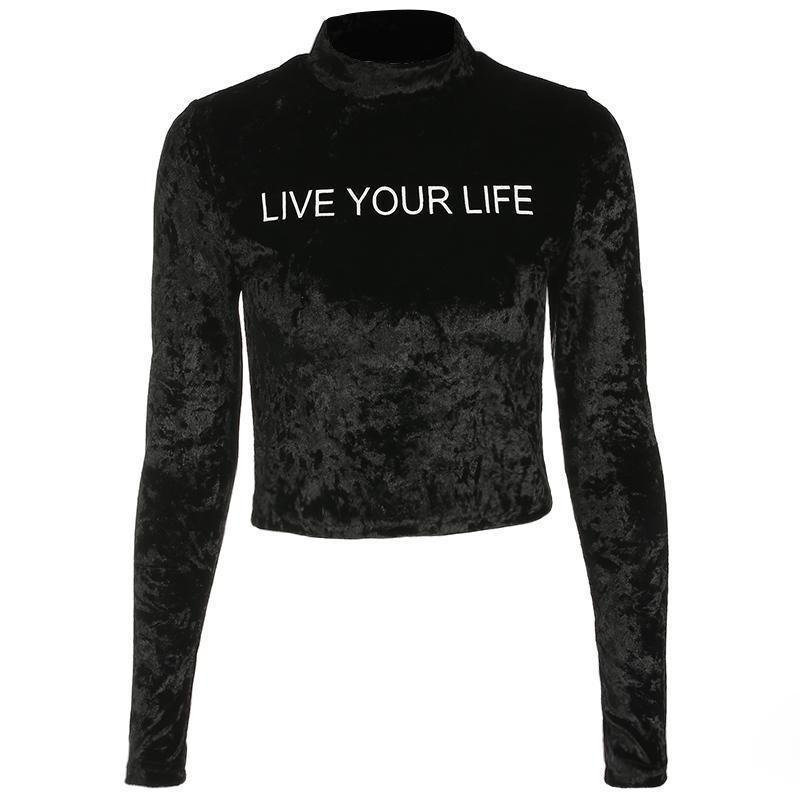 Long Sleeved 'Live Your Life' Tee - The Black Ravens