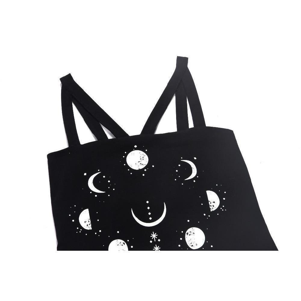 Moon Phase and Evil Eye Witch's Tank Top - The Black Ravens