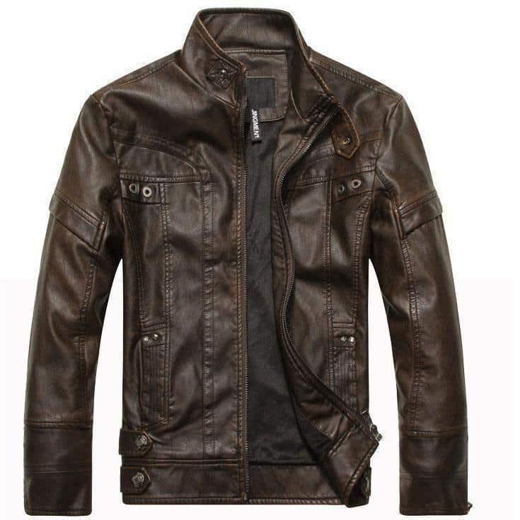 Motorcycle Leather Jacket For Men - The Black Ravens