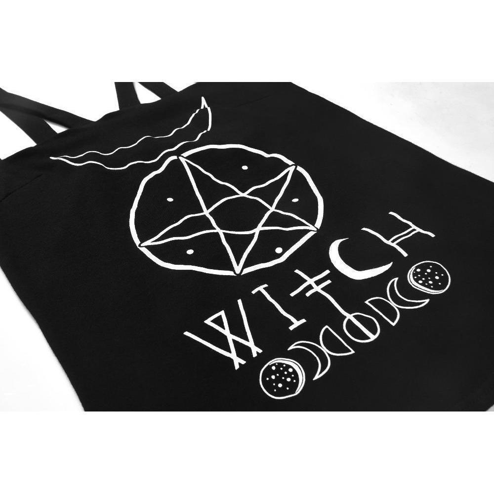 Pentagram and Moon Witch's Top - The Black Ravens