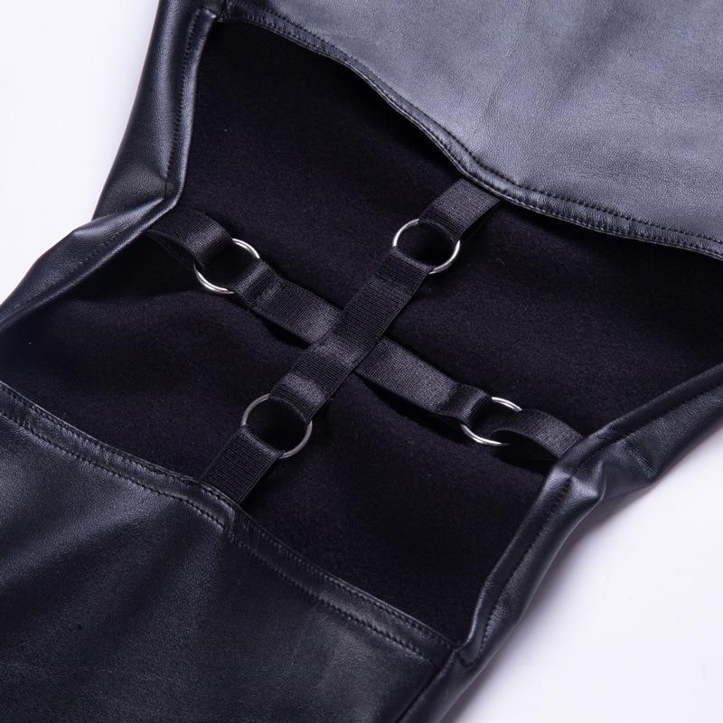 Punk Girls Elastic Leather Pants - The Black Ravens