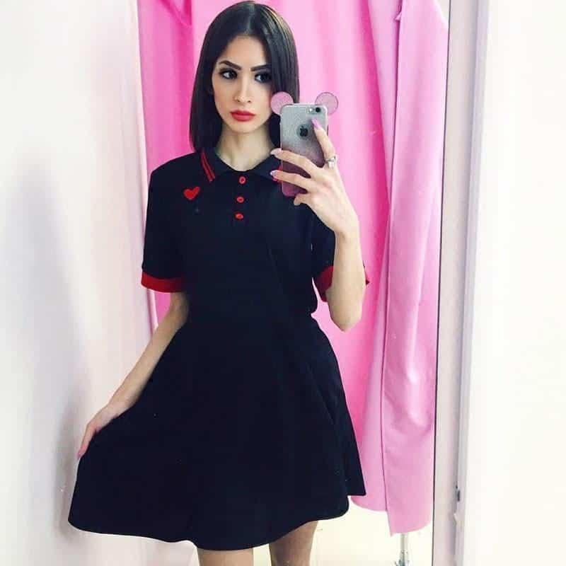 Punk Ladies Collared Summer Dress - The Black Ravens