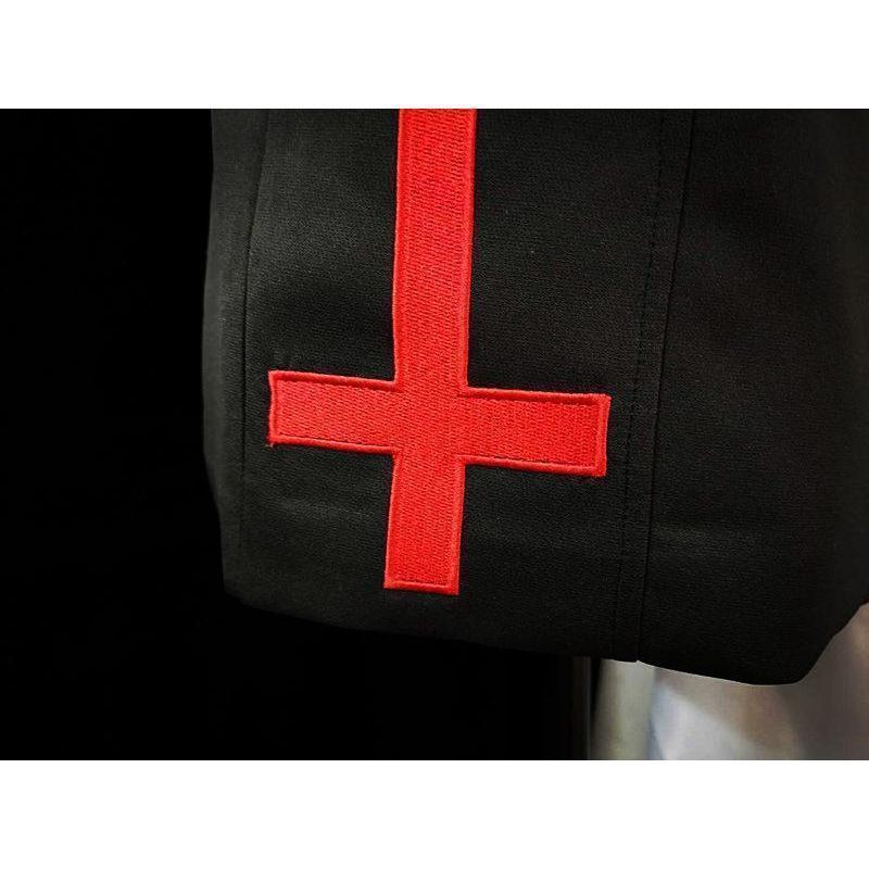 Punk Ladies Inverted Cross Mini Skirt - The Black Ravens