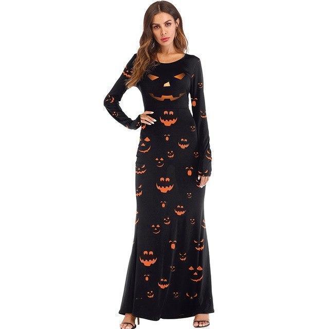 Scary Pumpkin Ladies' Sexy Halloween Dress - The Black Ravens