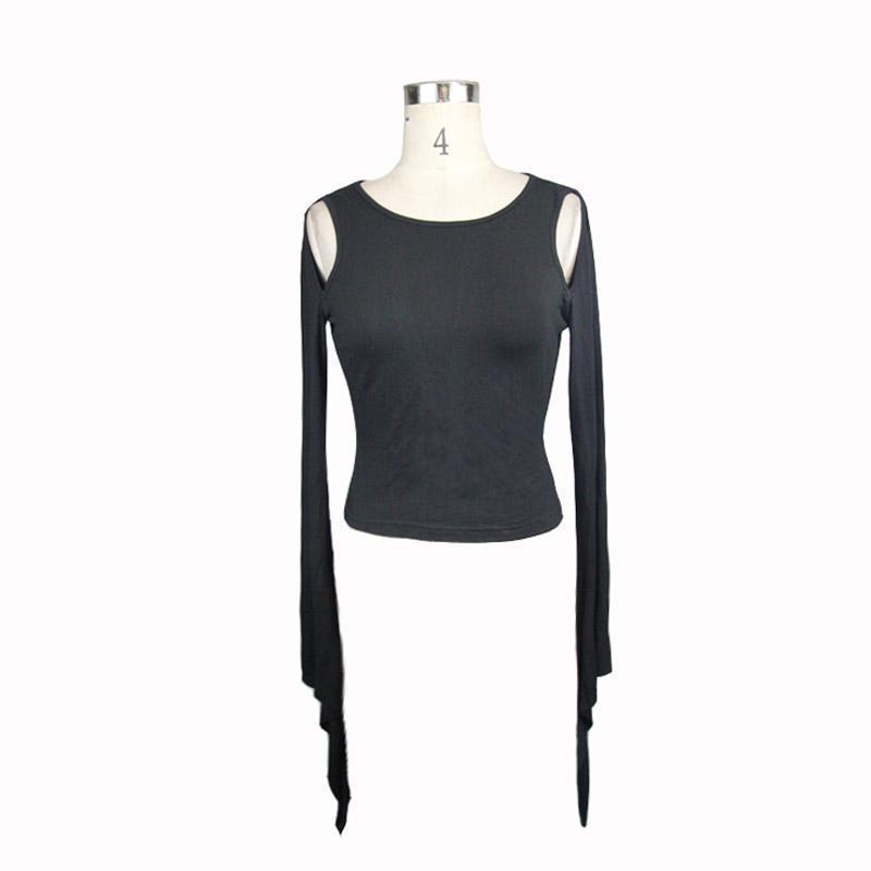 Sexy Backless Lace Up Full Sleeve Top - The Black Ravens