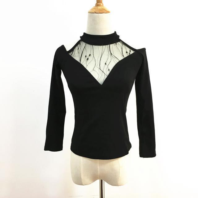 Sexy Gothic Full Sleeve Mesh Top - The Black Ravens