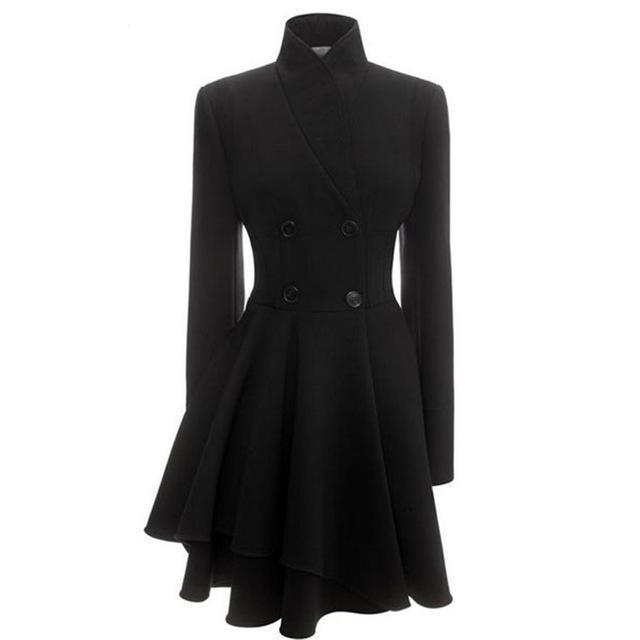 Sexy Wave Black Classic Trench Coat - The Black Ravens