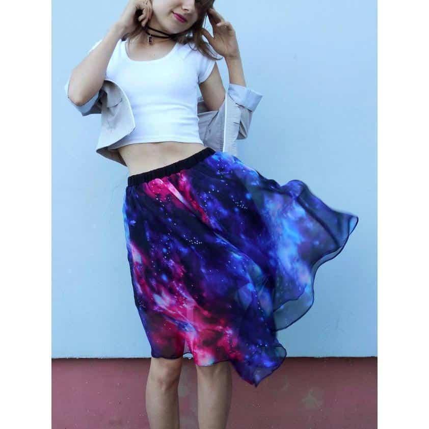 Stunning Bright Starry Space Skirt - The Black Ravens